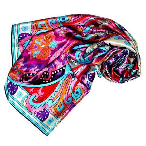 LORENZO CANA Foulard pour la femme – écharpe à la mode de 100% soie pour le printemps et...