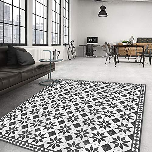 Tapis Salon antidérapant Old Style Carpet - 100x150 Tapis de Protection de Sol en Vinyle 100% fabriqué en Italie, avec Encre Non Toxique, Ignifuge et résistant à l'eau
