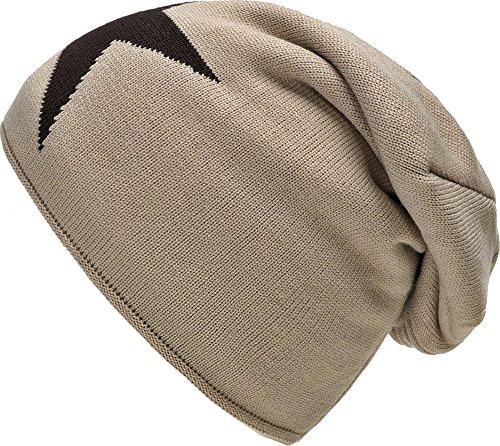 Bonnet chaud d'hiver Chapeau d'automne avec laine polaire Star Doublure gris noir bleu taupe...