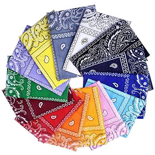 Awinker Bandanas Fichu Mouchoir Unisexe Bandeau de Cheveux Echarpe de Cou Multicolore pour Homme et Femme prix et achat