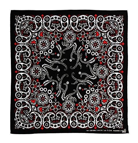 Bandana Noir/rouge/blanc prix et achat