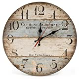LOHAS Home : Horloge Murale Rustique 30cm Vintage